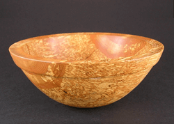 Beaded ash bowl turned by Dennis Curtis.